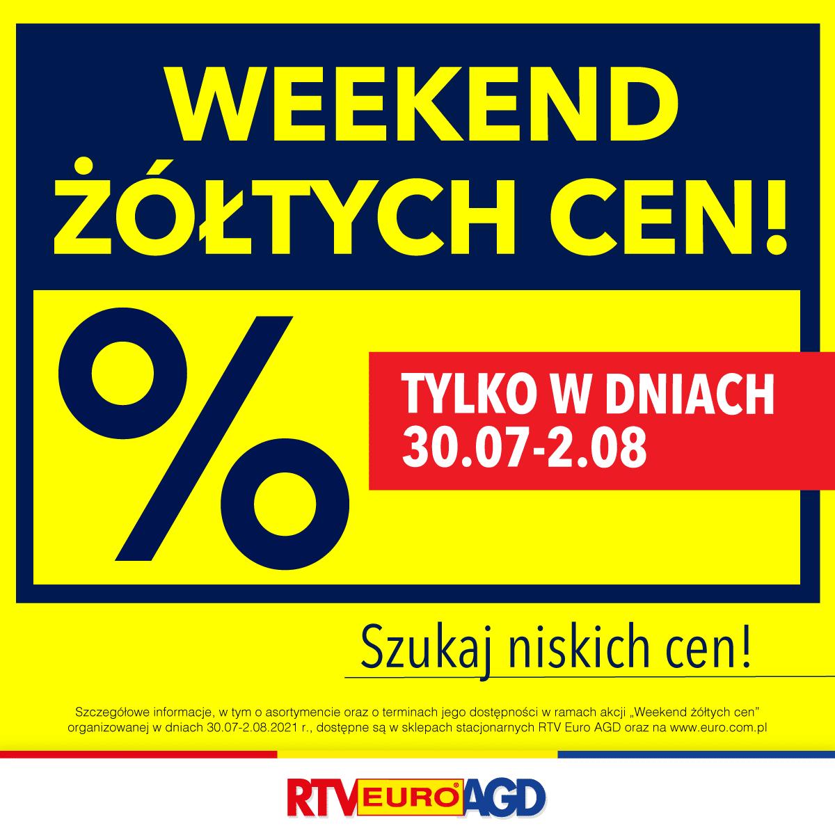 RTV Euro AGD żółte ceny